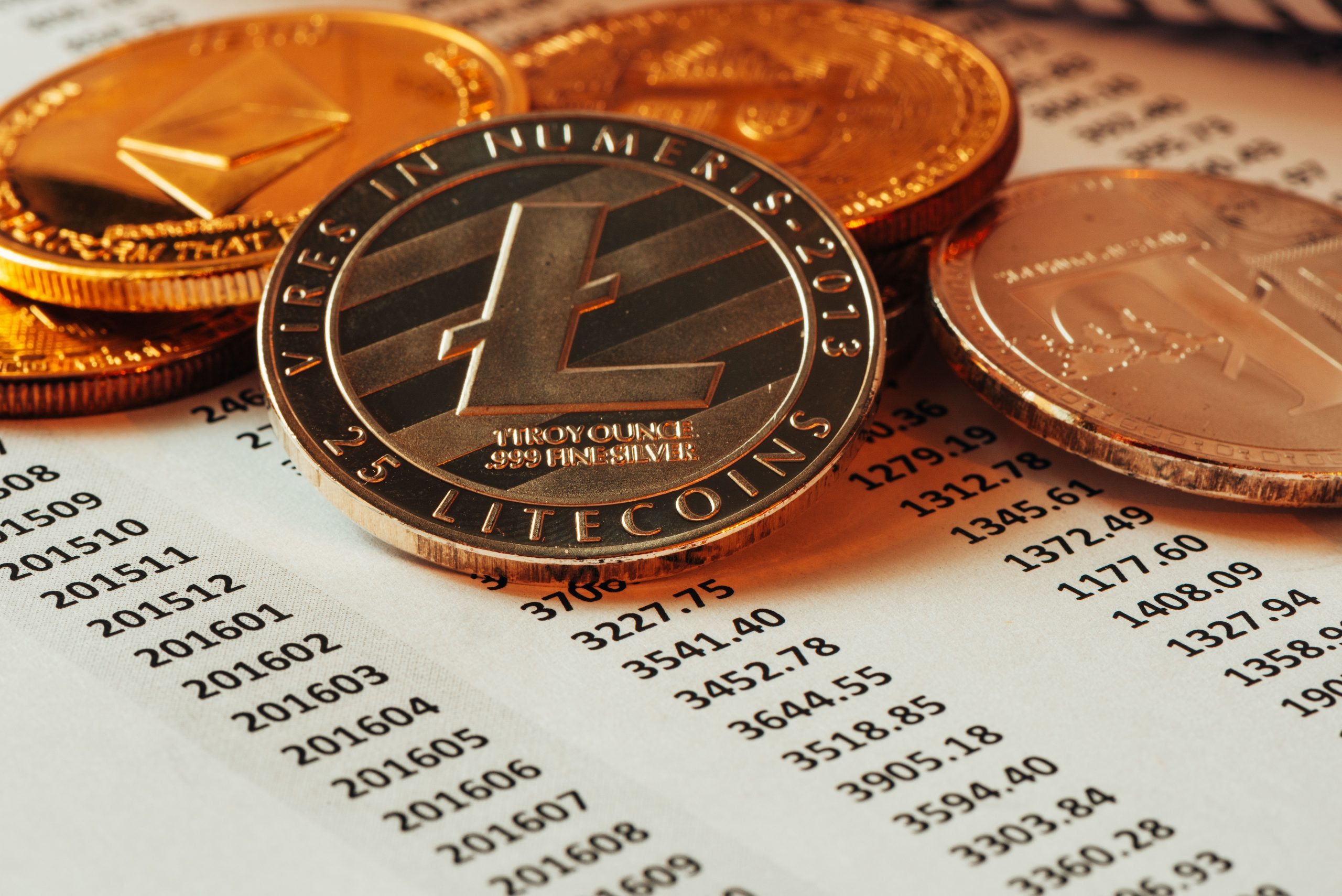 Litecoin cryptocurrency coin